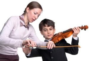 Practicing Violin 1